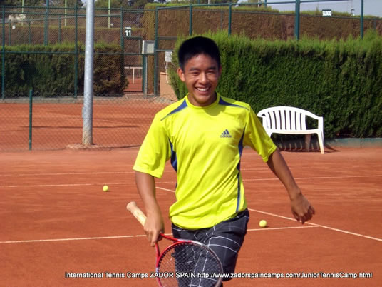 Junior Tennis Camp in Spain